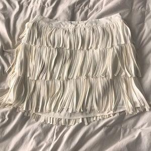 High Waisted Fringe Skirt